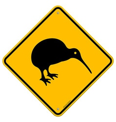 Kiwi Yellow Sign vector image vector image