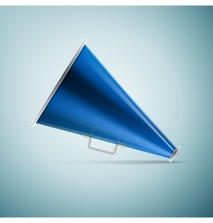 Megaphone icon isolated on blue background vector