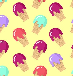 Peppermint ice cream seamless pattern Strawberry vector image