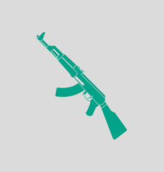 Russian weapon rifle icon vector