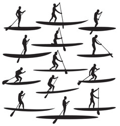 SUP Stand Up Paddle Boarding vector image vector image