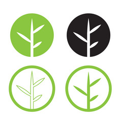 leave logo design set nature logo in circle vector image vector image