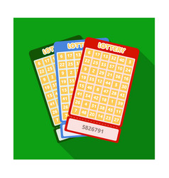 lottery tickets chance to win the jackpot vector image