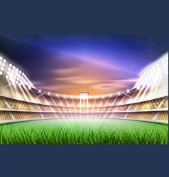 realistic footbal soccer stadium background vector image