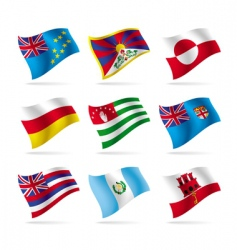 set of world flags 15 vector image vector image