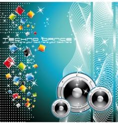 techno dance background vector image