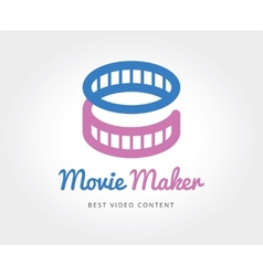 Abstract cinema film logo template for vector image