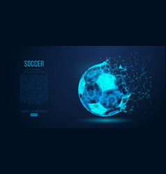 abstract silhouette of a soccer ball football vector image