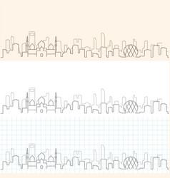 abu dhabi hand drawn skyline vector image