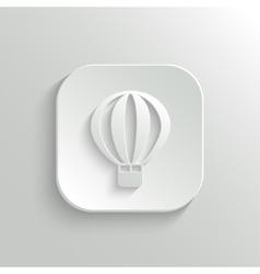 Air Balloon icon - web button vector image
