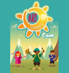Art summer camp poster vector