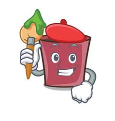 artist hot chocolate character cartoon vector image