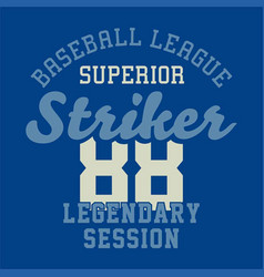Baseball league superior vector