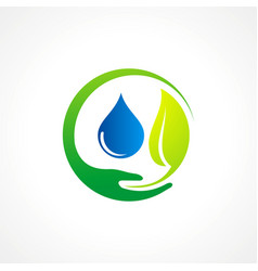 Bio leaf pure water logo vector