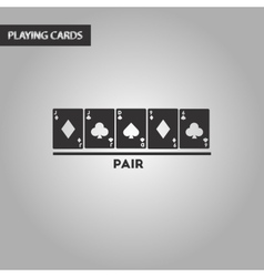 black and white style pair cards vector image