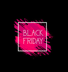 black friday sign holiday sale icon concept of vector image