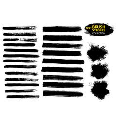 black ink brush strokes vector image