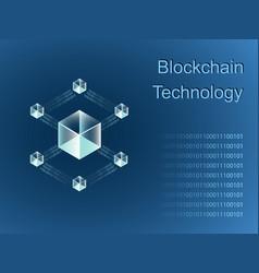 blockchain line icon logo concept vector image