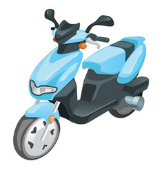Blue color scooter motorbike isolated on white vector