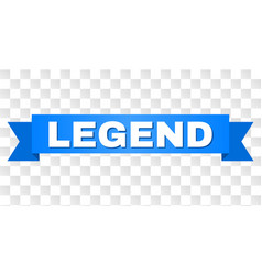 Blue tape with legend text vector