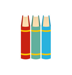 Book pile icon flat style vector