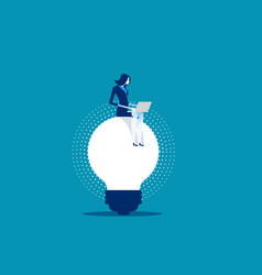Businesswoman working on ideas concept business vector