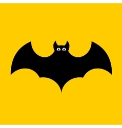 Cartoon Bat on Orange Background Flat design vector image