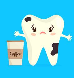 Cartoon unhealthy coffee stain vector