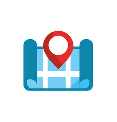 City street pointer gps map and navigation vector