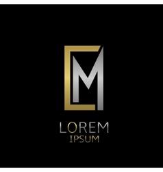 CM letters logo vector image