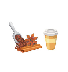 coffee dessert isolated vector image