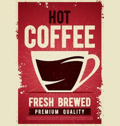 Coffee shop retro vintage poster template tin sign vector