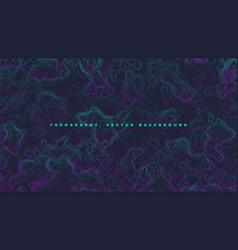 colored topographic contour map vaporwave vector image