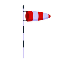 cone meteorology windsock wind vane isolated on vector image