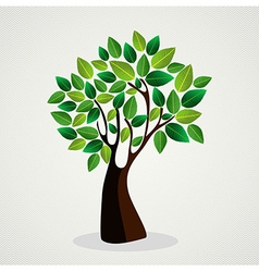 Cute tree hand drawn vector image