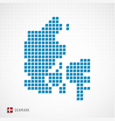 Denmark map and flag icon vector
