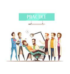 Dentist practice vector