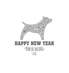 dog year 2018 vector image