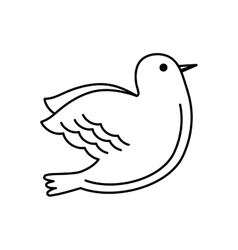 Dove bird isolated icon vector