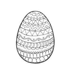 Easter egg with ornaments vector