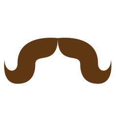 elegant mustache icon cartoon style vector image