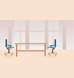 empty no people co-working center cabinet modern vector image