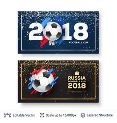 Fifa world cup 2018 banner concept vector