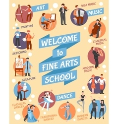 Fine Arts School Poster vector