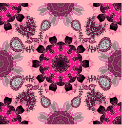 Flowers on neutral pink and black colors vector