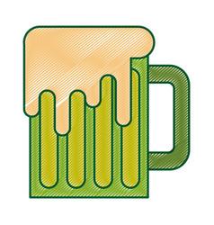 green mug beer glass drink traditional vector image