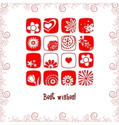 Greeting card best wishes vector
