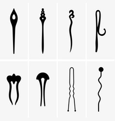 hair pins vector image