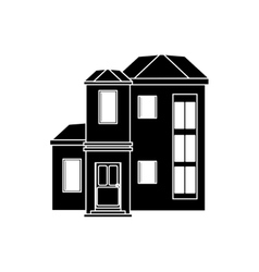 house urban expensive pictogram vector image