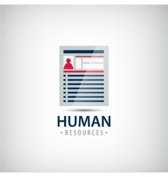 Human resources resume career finder cv vector